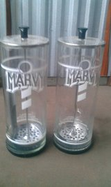 (1) Marvy #4 Glass disinfectant Barber Jar complete with extra lid & contents Ex Cond in Westmont, Illinois