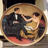 Norman Rockwell Flirting In The Parlor Collector Plate in Sandwich, Illinois