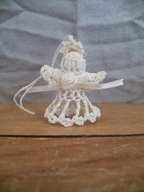 Small white Crocheted Angel Ornament in Spring, Texas