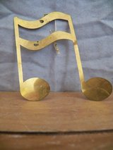 Brass Music Note Ornament in Spring, Texas
