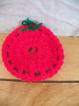 Small Red Crocheted Ornament in Kingwood, Texas