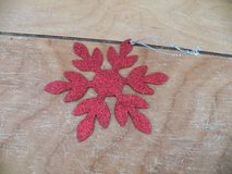 Red Glitter Snowflake Tie On in Spring, Texas