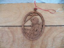 Woodcut Lamb Ornament in Spring, Texas